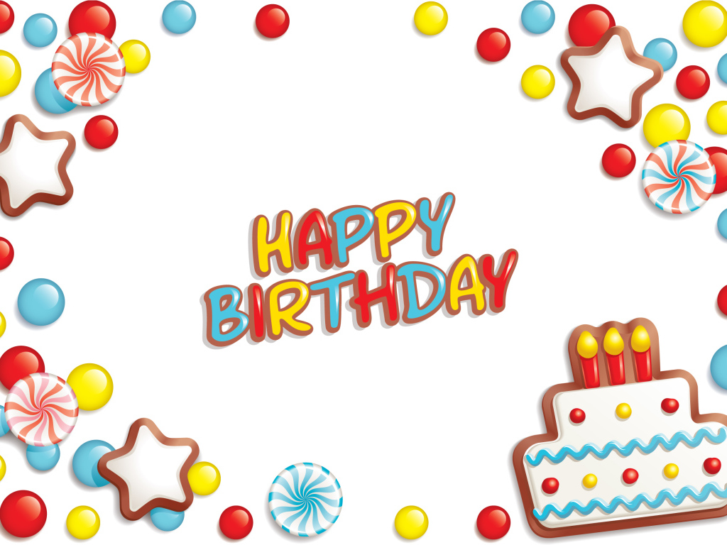 Holidays Birthday Cheerful picture for birthday white background 051786 1